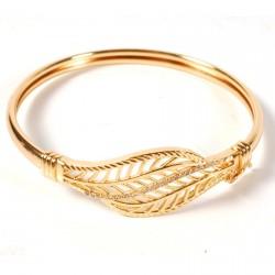 Bracelet - Raffiné : Feuilles, ø 6,2 cm