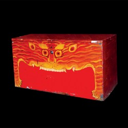 Coffre - Tibétains rouge, L. 47 cm