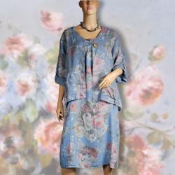 Ensemble d'intérieur - Renoir : Fleurs bleues ciel, TU