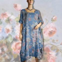 Robe - Renoir : Fleurs bleues ciel ML, TU