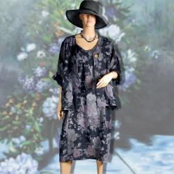 Ensemble d'intérieur - Renoir : Fleurs bleues marines, TU