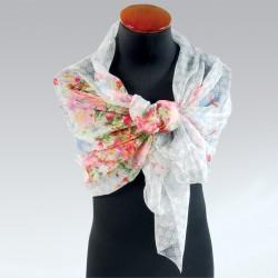 Etole - Fleurs grise, L. 180 cm