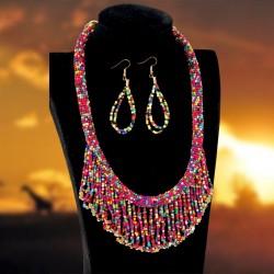 Parure - Perlines multicolores, TU