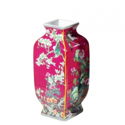 Vase - Chine : Prospérité et Bonheur, H. 30 cm