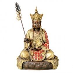 Bouddha sur Fleur de Lotus Bronze