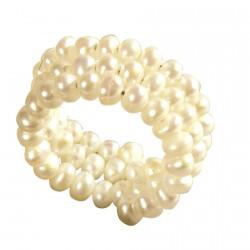 Bague Perles de Culture 3 Rangs