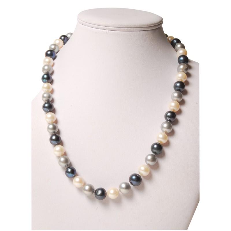 collier perles 3 couleurs collier pendentif. Black Bedroom Furniture Sets. Home Design Ideas