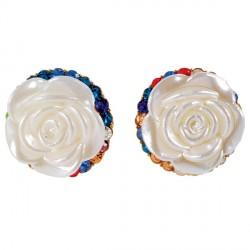 Boucles D'Oreilles Rose De Nacre