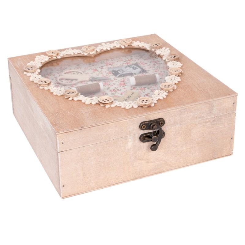 Boite couture romantique h 7 cm f te des m res for Boite couture maison du monde