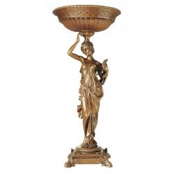 Femme et Coupe à Offrandes Bronze