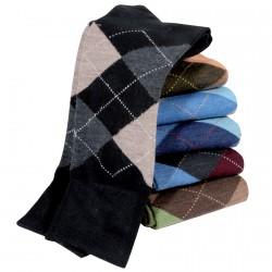 6 paires de Chaussettes Intarsia en laine Mérinos