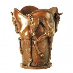 Cadre Noir Vase Bronze