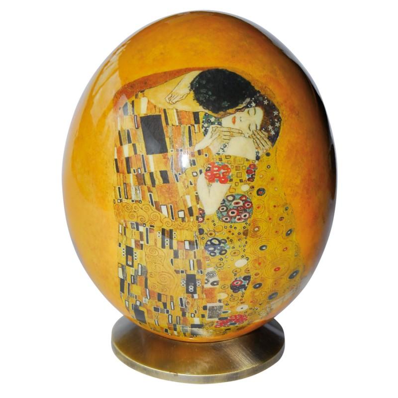 Oeuf de collection oeuf d 39 autruche klimt h 16 cm collection oeufs de collection - Oeufs d autruche ...
