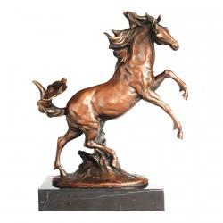 Cheval Fougueux - Bronze