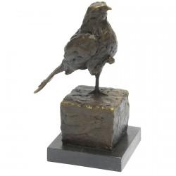 Oiseau sur une Patte - Bronze