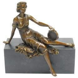 Femme au Tambourin - Bronze