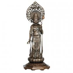 Divinité à la fleur de lotus Bronze