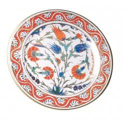 Assiette rouge Iznik