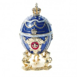 Reproduction oeuf de collection Fabergé - Oeuf Lion Impérial, H. : 6 cm