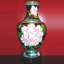 Vase - Email cloisonné, H. 20 cm