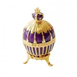 Reproduction oeuf de collection Fabergé - Oeuf Impérial bleu, H. 6,5 cm