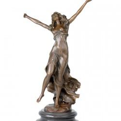 Sculpture bronze - Danseuse au Petit Tambourin, H. 45 cm