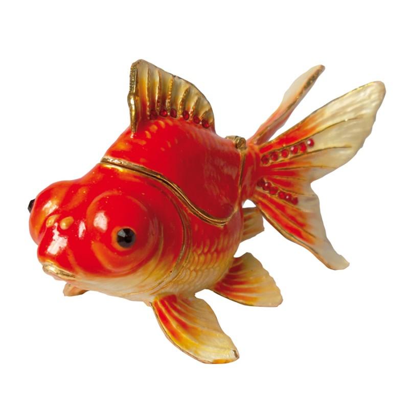 Petite boite secrets maill e poisson rouge l 9 7 cm for Vente poisson rouge toulouse