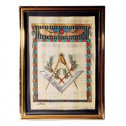 Papyrus - Maçonnique, H. 35,5 cm