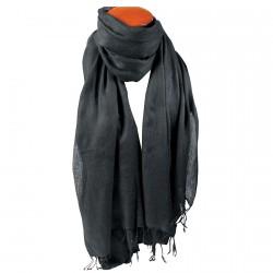 Echarpe laine - Watson Homme noir, L. 200 cm