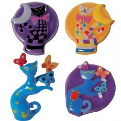 Magnets et figurine porcelaine - Chats