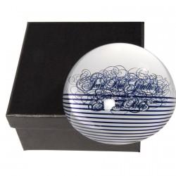 Presse-papier - Jean-Paul Gaultier bleu, Ø 8 cm