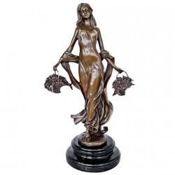 Sculpture bronze - Botticelli : Le Printemps (1478), H. 38 cm
