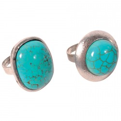 Lot 2 Bagues Pompei Turquoise