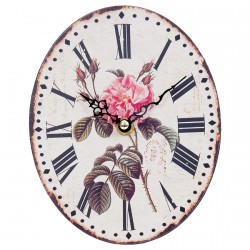 Horloge - Vintage : Rose, H. 18 cm