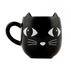 Mug - Chat noir, H. 12 cm