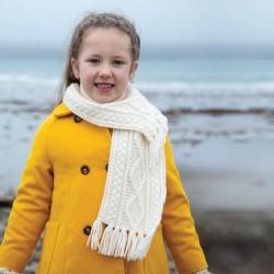 Echarpe laine - Enfant blanc, L. 90 cm