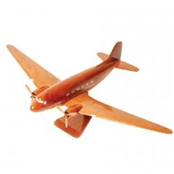 Maquette Avion bois de rose - DC-3 GM, L. 33 cm