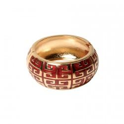 Bracelet - Art Déco rouge, H. 3 cm