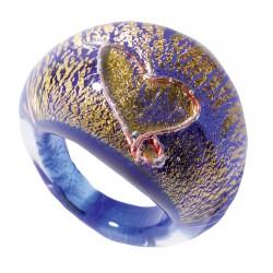 Bague verre soufflé ajustable - Klimt T.56
