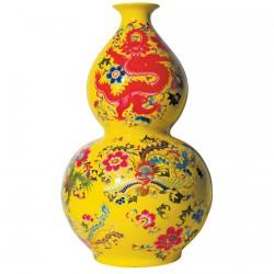 Vase porcelaine - Double Gourde années '30, H. 60 cm