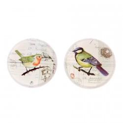 Presse-papier verre - Oiseau B, Ø 8 cm