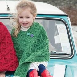Poncho laine - Shannon Enfant vert Taille 3 à 5 ans