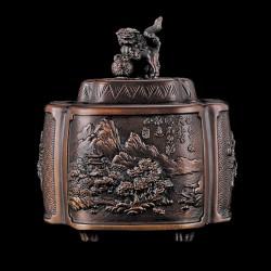 Brûles Parfums de collection bronze - Chien Fo, H. 12 cm