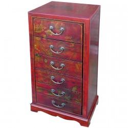 Chiffonnier - Chengdu rouge, H. 92 cm