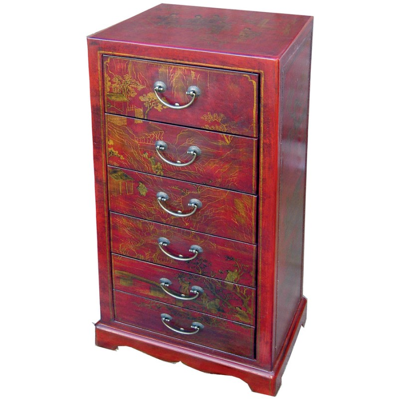 excellent chiffonnier chengdu rouge h cm with chiffonnier maison du monde. Black Bedroom Furniture Sets. Home Design Ideas