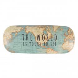 Etui à Lunettes - Carte du Monde, L. 16 cm
