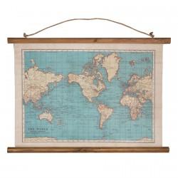 Carte du Monde - Comme Autrefois, L. 75 cm