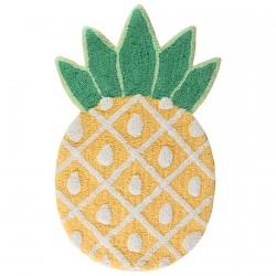 Tapis de bain 100 % coton - Ananas, L. 49 cm