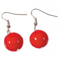 Boucles d'oreilles Pendant -  Caledonia rouge