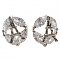Boucles d'oreilles Clou - Paris, H. 1,6 cm